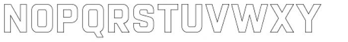 Racon Outline Bold Font UPPERCASE