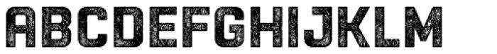 Racon Worn Bold Font LOWERCASE