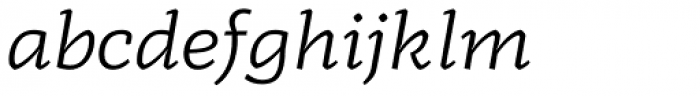 Radcliffe Book Italic Font LOWERCASE