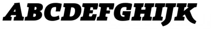 Radcliffe Heavy Italic Font UPPERCASE