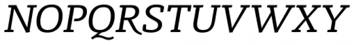 Radcliffe Text Italic Font UPPERCASE