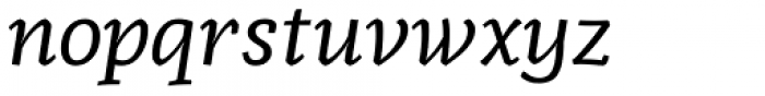 Radcliffe Text Italic Font LOWERCASE