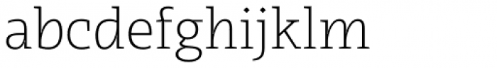 Radcliffe Text Light Font LOWERCASE