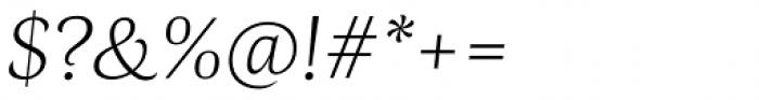 Radiata Light Italic Font OTHER CHARS
