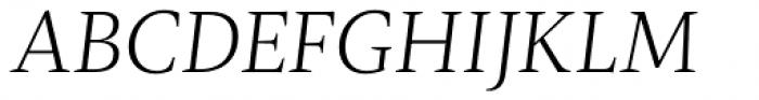 Radiata Light Italic Font UPPERCASE