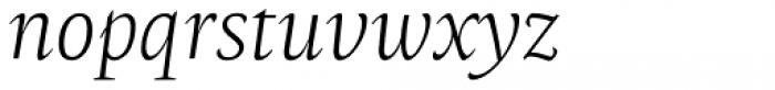 Radiata Light Italic Font LOWERCASE