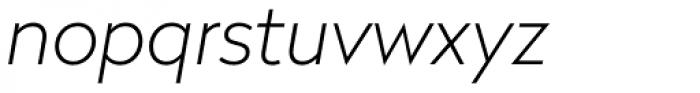 Radikal Thin Italic Font LOWERCASE