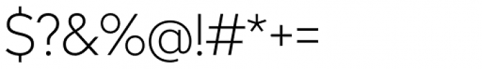 Radikal Thin Font OTHER CHARS
