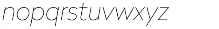 Radikal UltraThin Italic Font LOWERCASE