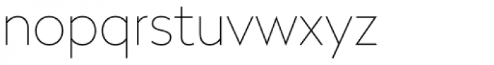 Radikal UltraThin Font LOWERCASE