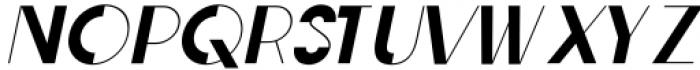 Rafisqi Regular Italic Font UPPERCASE