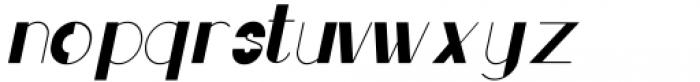 Rafisqi Regular Italic Font LOWERCASE