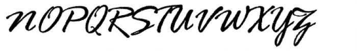 Rage Italic Com Font UPPERCASE