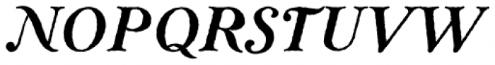 Ragged Write NF Italic Font UPPERCASE
