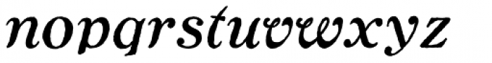 Ragged Write NF Italic Font LOWERCASE