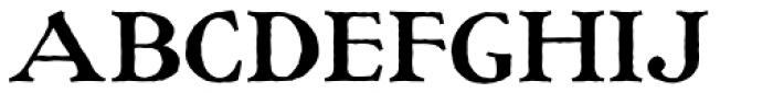 Ragged Write NF Font UPPERCASE