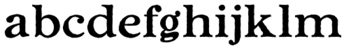 Ragged Write NF Font LOWERCASE