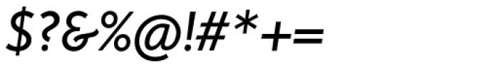Rahere Sans Medium Italic Font OTHER CHARS