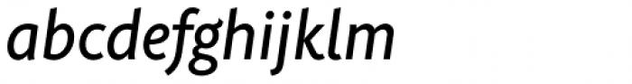 Rahere Sans Medium Italic Font LOWERCASE