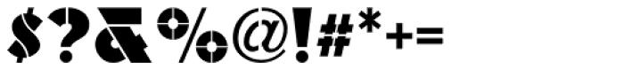 Raider Stencil JNL Font OTHER CHARS