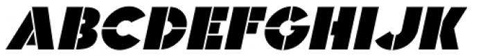 Raider Stencil Oblique JNL Font LOWERCASE