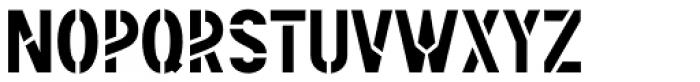 Rail Route Stencil JNL Font UPPERCASE