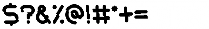 Rails Broken-Solid Font OTHER CHARS