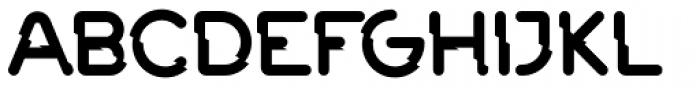 Rails Broken-Solid Font UPPERCASE
