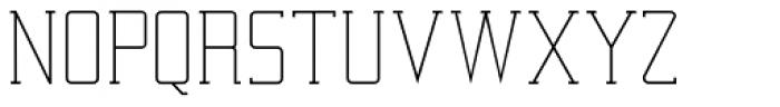 Railway Point Light Font UPPERCASE