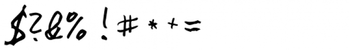 Rainer Handwriting Font OTHER CHARS