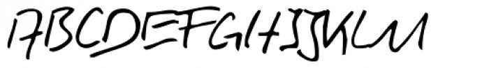 Rainer Handwriting Font UPPERCASE