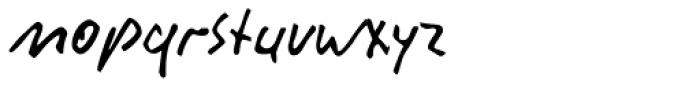 Rainer Handwriting Font LOWERCASE