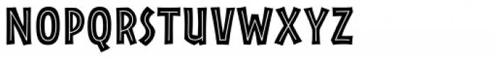 Rainforest Inline Font UPPERCASE