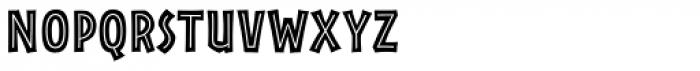 Rainforest Inline Font LOWERCASE