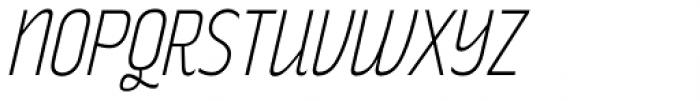 Rakesly ExtraLight Italic Font UPPERCASE