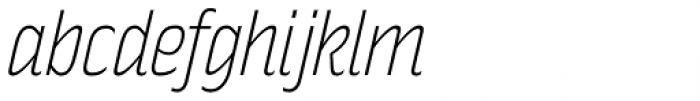 Rakesly ExtraLight Italic Font LOWERCASE