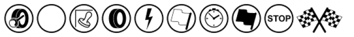 Rally Symbols 2D Signs Font LOWERCASE