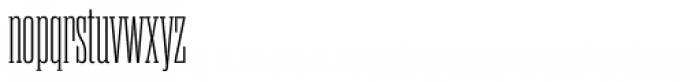 Rama Slab Cond Light Font LOWERCASE