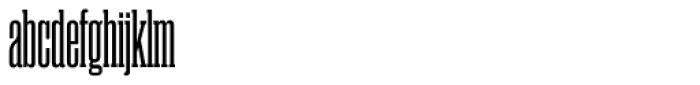Rama Slab Condensed Semibold Font LOWERCASE