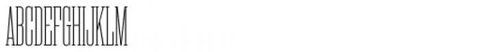 Rama Slab Condensed Thin Font UPPERCASE