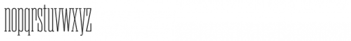 Rama Slab Condensed Thin Font LOWERCASE