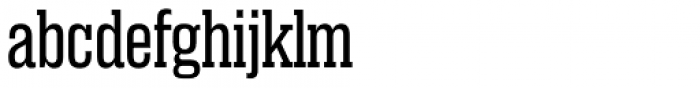 Rama Slab Expanded Regular Font LOWERCASE
