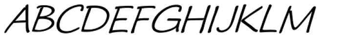 Ramadesh Caps Oblique Font UPPERCASE