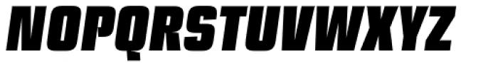 Ramsey Condensed Black Italic Font UPPERCASE