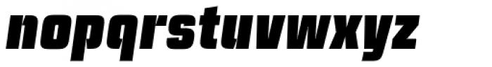 Ramsey Condensed Black Italic Font LOWERCASE