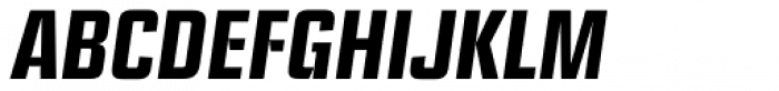 Ramsey Condensed Bold Italic Font UPPERCASE