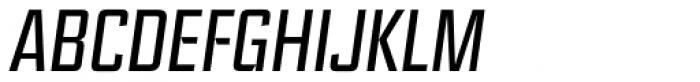 Ramsey Condensed Light Italic Font UPPERCASE