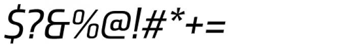 Ranelte Normal Medium Italic Font OTHER CHARS