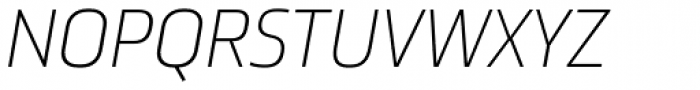 Ranelte Normal Thin Italic Font UPPERCASE