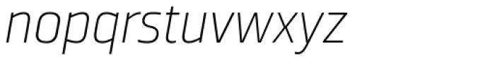 Ranelte Normal Thin Italic Font LOWERCASE